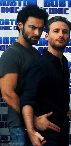 I don't know about anyone else, but this is hot. (Aidan Turner and Dean O'Gorman)