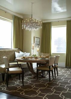 Nice Patterned Carpet & Home Design Dining Table