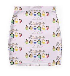 """Brunette Disney Ladies"" Pencil Skirts by LaurasLovelies | Redbubble"
