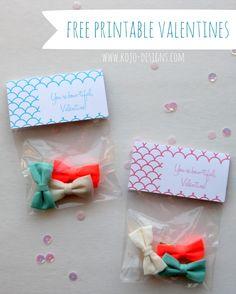 free printable valentine bow labels. #valentines #printable #kids