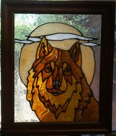 Faux Stained Glass Wolf by PeaceLuvGlass on Etsy, $19.00