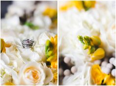 Stunning color yellow tones for gorgeous wedding details shots!