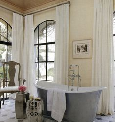 Chinoiserie Chic.  love the silver garden stool