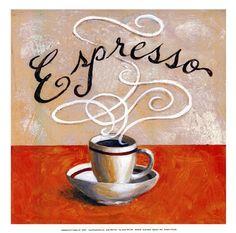 Expresso - mini by Karen Bates art print