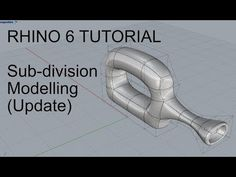 This is a Rhino 6 update tutorial pertaining to Sub-division modelling & workflow. It is useful for product design and organic modelling work. Rhino Software, Rhino Cad, Rhino Tutorial, Grasshopper Rhino, Solidworks Tutorial, Digital Fabrication, Video Tutorials, Division, Scrap