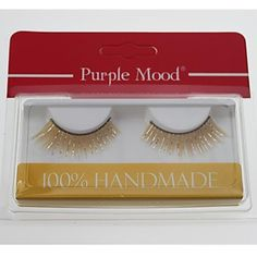 1 Pair High Quality Hand Made Synthetic Fiber Hair Thick Long Shimmer Cannetille Style False Eyelashes CFE461# - USD $ 2.82