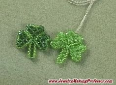 Beaded Shamrocks and Hearts - video