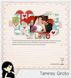 Scrapbook by Tamy- DIY, Coisas fofas e tudo sobre Scrapbook artesanal, híbrido e digital!: LO dia dos namorados template FREE