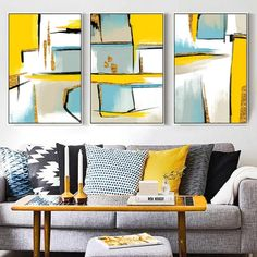 Buy Abstract Yellow Geometric Pictures Nordic Minimalist Canvas Paintings Wall Art Poster Print Living Room Home Decor Drop shipping Geometric Wall Paint, Geometric Painting, Abstract Art, Rooms Home Decor, Living Room Decor, Living Room Canvas Pictures, Wall Art Decor, Poster Prints, Interior