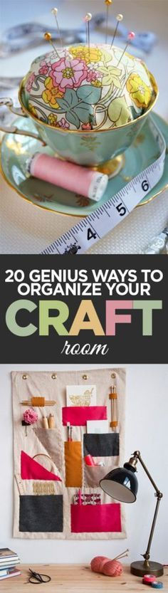 '20 Genius Ways to Organize Your Craft Room...!' (via Organization Junkie)