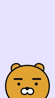 Kawaii Wallpaper, Disney Wallpaper, Cool Wallpaper, Iphone Wallpaper, Ryan Bear, Kakao Ryan, Kakao Friends, Friends Wallpaper, Cute Kawaii Drawings