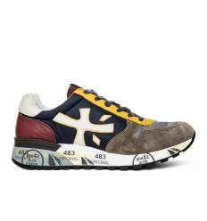 PREMIATA uomo scarpa sneaker multicolor blu pelle e tessuto MICK 2338