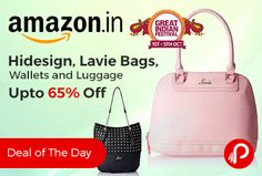 Amazon #DealofTheDay is offering Upto 65% off on Lavie, Caprese, Hidesign, Sugarush, Madden Girl, Betsey Johnson. Fossil Bags & Backpacks, Handbags & Clutches.  http://www.paisebachaoindia.com/hidesign-lavie-bags-wallets-and-luggage-upto-65-off-amazon/