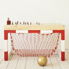 a soccer goal table? too cool!