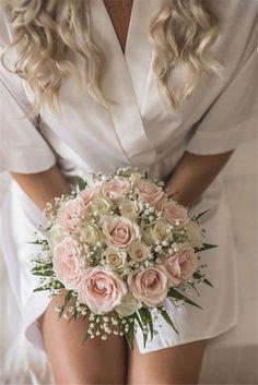 Jewelry for the bride - # for . Jewelry for the bride – # for … – bridal bouquet – - Wedding Bridesmaid Bouquets, White Wedding Bouquets, Wedding Flower Arrangements, Bride Bouquets, Flower Bouquet Wedding, Flower Bouquets, Pink Bouquet, Floral Arrangements, Dusty Rose Wedding