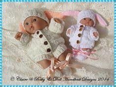 """Conejito Set de 5 y 8 """"Chubby Berenguer muñecas patrón de tejer, muñeca, berenguer gordito, Berenguer, hay mucho que aman"""