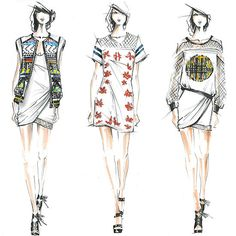 Designer Sketches Spring 2014: Rebecca Minkoff