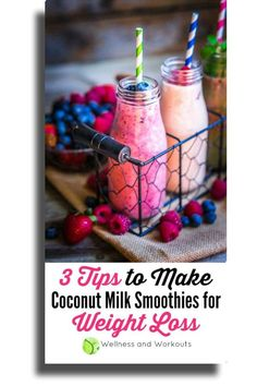 Coconut Milk Smoothie for Weight Loss -- Best Weight Loss Foods Make Coconut Milk, Coconut Milk Smoothie, Smoothies For Kids, Healthy Smoothies, Healthy Drinks, Best Weight Loss Foods, Healthy Recipes For Weight Loss, Healthy Lemonade, Lemonade 5