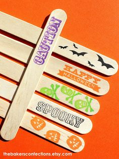 Stamp on Wooden Sticks for Baked Treats!