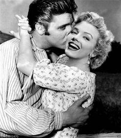 Marilyn Monroe & Elvis Presley in de foto van een grote fantasie. # 2