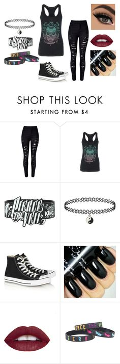 """Pierce the Veil"" by jessie-greynolds ❤ liked on Polyvore featuring Converse"