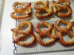 Homemade German Pretzel recipe from AmandasCookin.com @amandaformaro