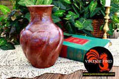Hand Hammered Copper Vase by JunkRedemption on Etsy