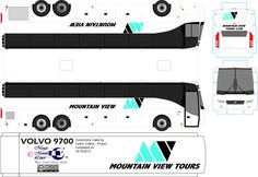 Busses, Jumping Jacks, Paper Models, Slot Cars, Mountain View, Model Trains, Volvo, Free Printables, Stencils