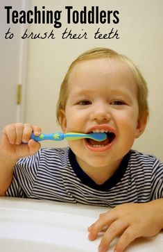 Helpful tips for getting your little ones to brush their teeth (and when to start using toothpaste)!