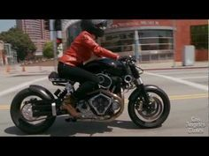 Confederate Motorcycles' third-generation Hellcat, the X132 - YouTube