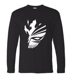 2017 New brand autumn funny Tee shirts BLEACH Kurosaki Ichigo hip hop Printed Mens long sleeve cotton casual Men T Shirt Fashion Ichigo Hollow Mask, Funny Tee Shirts, T Shirt, Shirt Price, Shirt Style, Hip Hop, Long Sleeve Shirts, Bleach, Men Casual