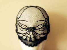 If you're seeking a subtle & comfortable disguise, you are sure to be happy with this soft and gothic Lace blindfold Mask. With only partial sight