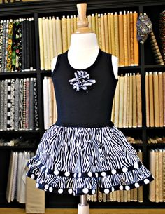 T-shirt dress instruction that can be used for little ones or more modern for older crowd.