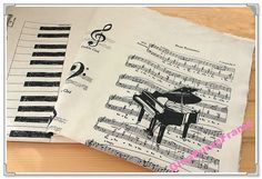 Fat QuarterLinen Cotton Blended Fabric  Piano by GinaPurseFrame, $12.00