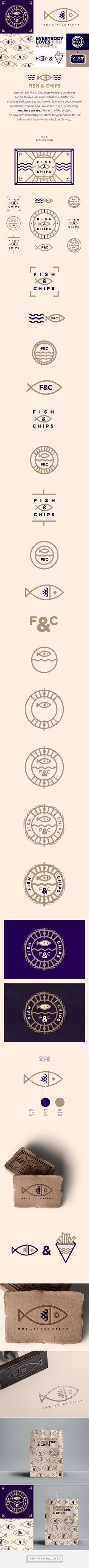 Nice work by Studio JQ, Bristol - Fish & Chips branding. Typo Design, Corporate Design, Graphic Design Typography, Identity Design, Visual Identity, Web Design, Brand Identity, Logos, Logo Branding