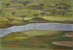 Harvest Golf and Country Club  22x28 pastel on tooth paper  $300