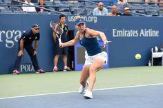 Halep vs. Suárez Navarro   September 5, 2016 - Simona Halep in action against Carla Suarez Navarro during the 2016 US Open at the USTA Billie Jean King National Tennis Center in Flushing, NY.