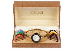 Gucci Watch w/ 11 Interchangeable Faces