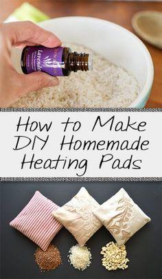 How to Make DIY Homemade Heating Pads - Organization Junkie