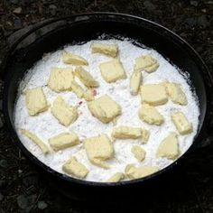 Dutch Oven Dump Cake - my favorite cake while I'm camping... yes, please!