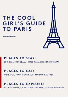 The best places to go in Paris, France