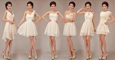 Light Peach Bridesmaid Dress Aline Chiffon Dresses by WeddingBless, $88.00