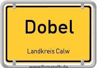Ortsschild von Dobel
