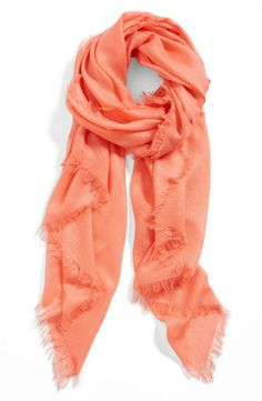 Cashmere for mom! Love this gorgeous coral scarf.