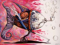 On the conquer for land 3 - sudden return to drawing state by Darwin Leon Buy Paintings, Painting Prints, Painting & Drawing, Art Prints, Fish Art, Darwin, Various Artists, Art Gallery, Artsy