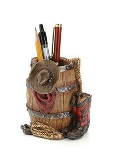 Cowboy pencil holder (Rodeo Hard)