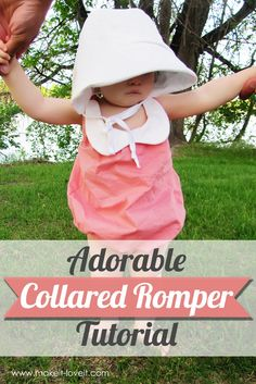 Make a cute collared baby romper with this free tutorial.