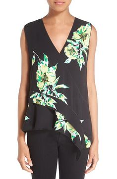 Proenza Schouler Proenza Schouler Print Georgette Crepe Asymmetrical Top available at #Nordstrom