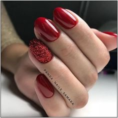 42 coffin – ballerina style nails page- 25 ~ mantulgan.me - Nails Christmas Gel Nails, Holiday Nails, Red Nail Designs, Acrylic Nail Designs, Winter Nails, Spring Nails, Cute Nails, Pretty Nails, Red Acrylic Nails