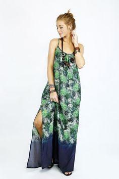 Vestido Longo Estampado - Vestidos Yacamim